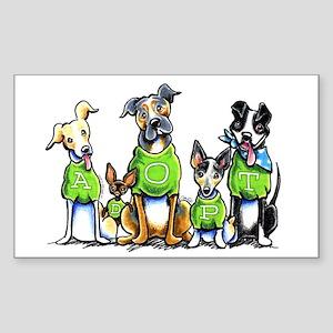 Adopt Shelter Dogs Sticker