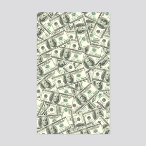 100 Dollar Bill Money Pattern Sticker (Rectangle)