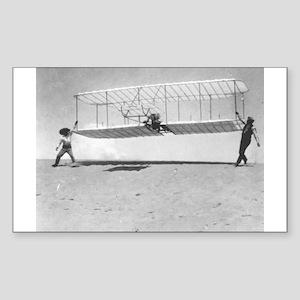 1901 Wright Glider Shop Rectangle Sticker