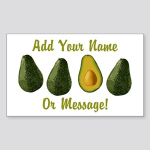 PERSONALIZED Avocados Graphic Sticker