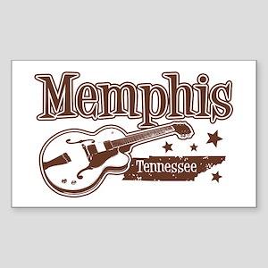 Memphis Tennessee Rectangle Sticker