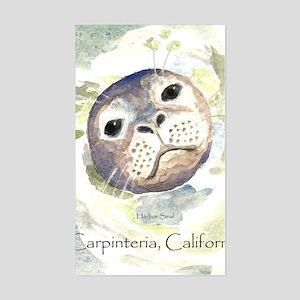Harbor Seal Sticker (Rectangle)