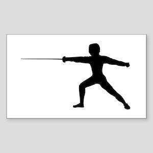 Guy Fencer Sticker (Rectangle)