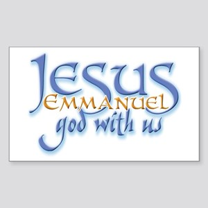 Jesus -Emmanuel God with us Rectangle Sticker