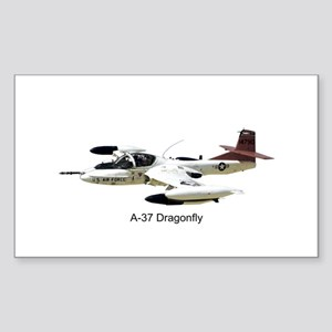 A-37 Dragonfly Rectangle Sticker
