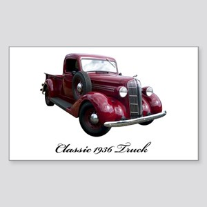 1936 Old Pickup Truck Sticker (Rectangle)