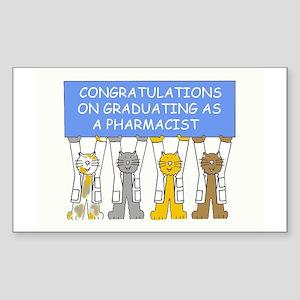Congratulations on graduating  Sticker (Rectangle)