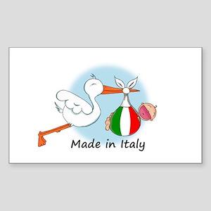 Stork Baby Italy Rectangle Sticker