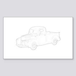 Ford Pickup 1940 Sticker (Rectangle)
