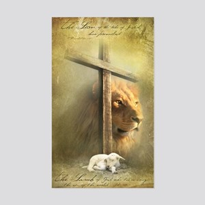 Lion of Judah, Lamb of God Sticker (Rectangle)