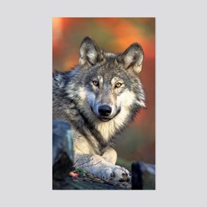 Wolf Wolves Lovers Sticker (Rectangle)