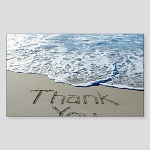 thank you Sticker (Rectangle)