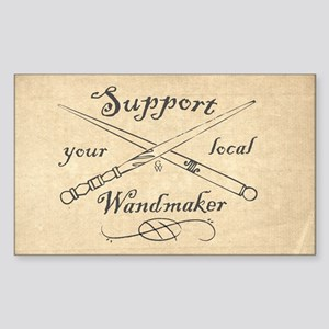 Support your local Wandmaker w Sticker (Rectangle)