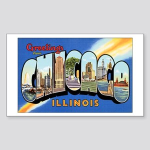 Chicago Illinois Greetings Rectangle Sticker