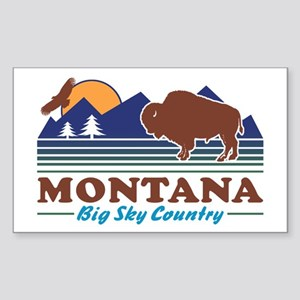 Montana Big Sky Country Sticker (Rectangle)