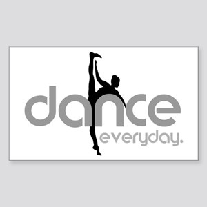 dance everyday Sticker (Rectangle)