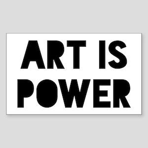 Art Power Sticker (Rectangle)
