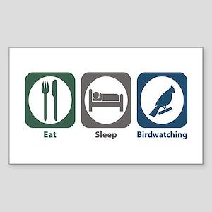 Eat Sleep Birdwatching Rectangle Sticker