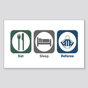 Eat Sleep Referee Rectangle Sticker