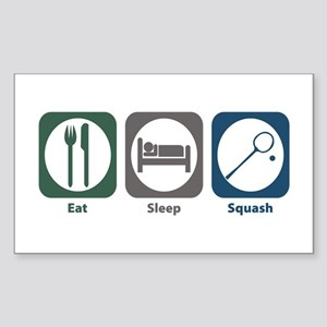 Eat Sleep Squash Rectangle Sticker