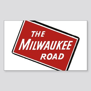 Milwaukee Road logo- slanted Sticker