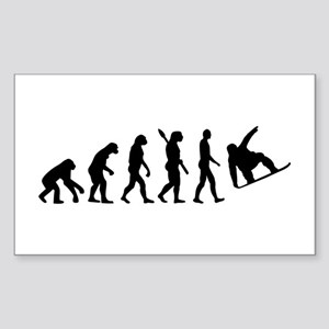 Evolution Snowboard Sticker (Rectangle)
