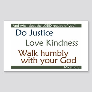 Micah 6:8 Rectangle Sticker