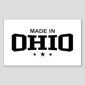 Made In Ohio Rectangle Sticker