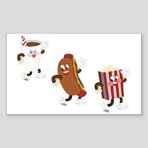 soda hotdog popcorn Sticker (Rectangle)