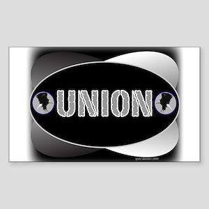 UNION -B Rectangle Sticker