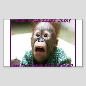 Hokey Pokey Orangutan Sticker (Rectangle)