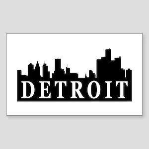 Detroit Skyline Rectangle Sticker