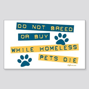 Do Not Breed or Buy Labels Rectangle Sticker