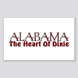 Alabama the heart of Dixie Rectangle Sticker