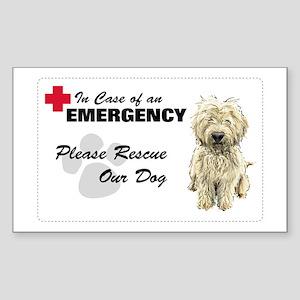 Please Rescue My Dog Rectangle Sticker