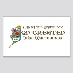 God Created Wolfhounds Rectangle Sticker