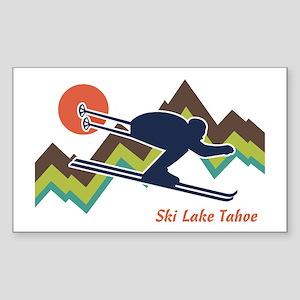 Ski Lake Tahoe Sticker (Rectangle)
