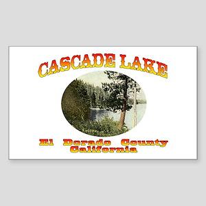 Cascade Lake Sticker (Rectangle)