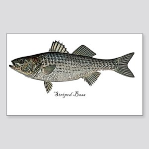 Bass- Striped Sticker (Rectangle)