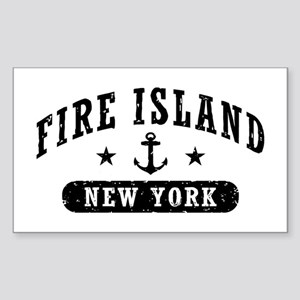 Fire Island NY Sticker (Rectangle)