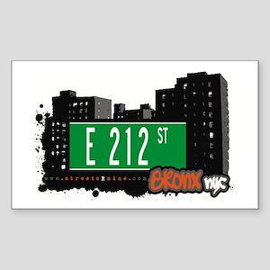 E 212 St, Bronx, NYC Rectangle Sticker