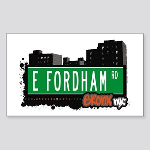 E Fordham Rd, Bronx, NYC Rectangle Sticker