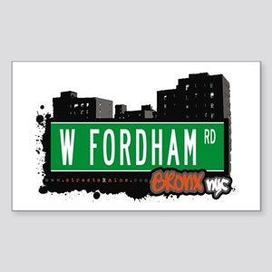 W Fordham Rd, Bronx, NYC Rectangle Sticker