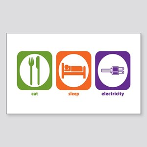 Eat Sleep Electricity Rectangle Sticker