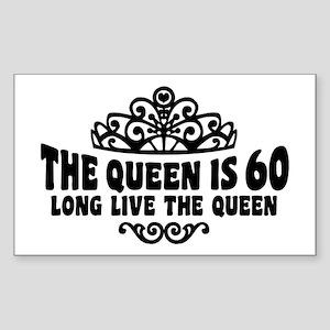 Funny 60th Birthday Sticker (Rectangle)