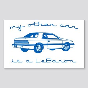 my other car is a lebaron Rectangle Sticker