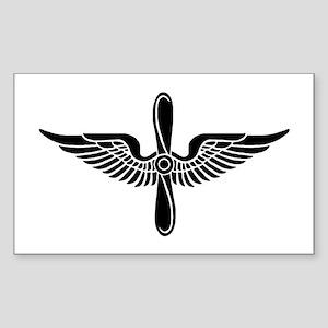 Aviation Branch (1) Rectangle Sticker