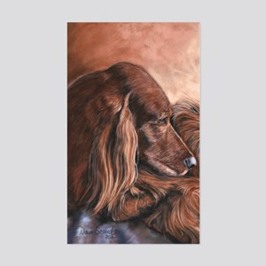 Irish Setter Sleeping Sticker (Rectangle)