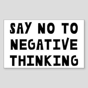 Say No Sticker (Rectangle)