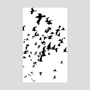 Birds Sticker (Rectangle)